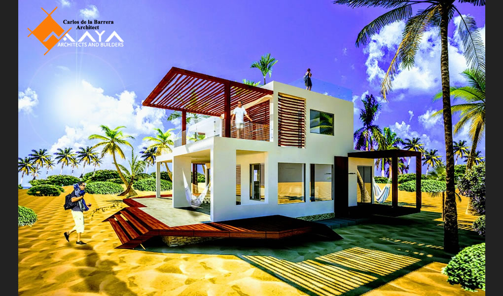 Casa de Playa Mahahual, Design and Construction Beach House in Mahahual, Maya DBN Architects and Builders