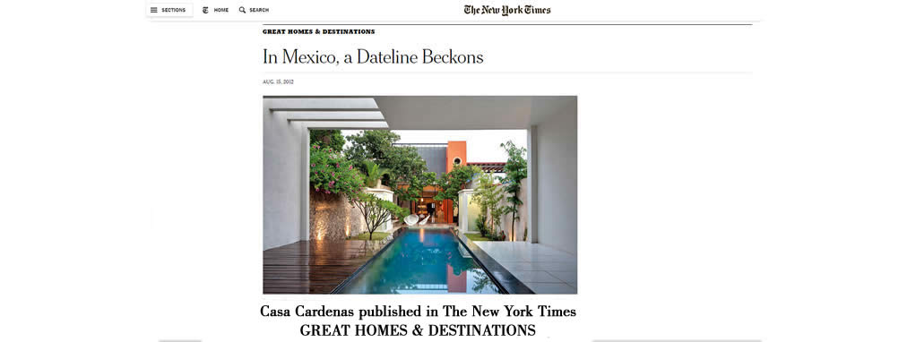 The New York Time, Arquitecto Carlos de la Barrera, American Trained Yucatecan Architect
